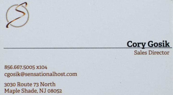 Sensational Host Business Card New