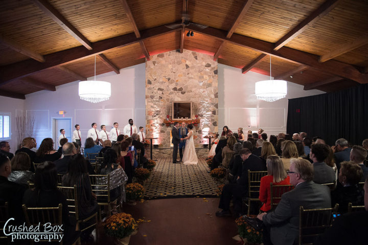 Heartfelt ceremony in the ballroom