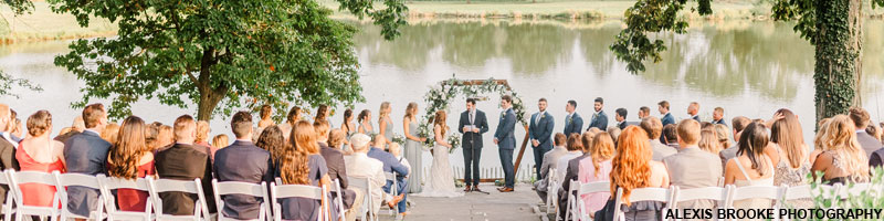 Outdoor wedding ceremony at The Estate at Eagle Lake