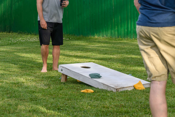 Corn Hole Game at Outdoor Event